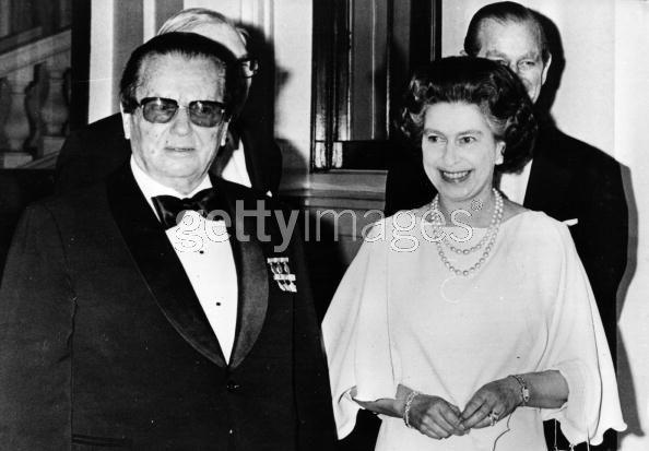 Queen Elizabeth II & Josip Broz  Tito