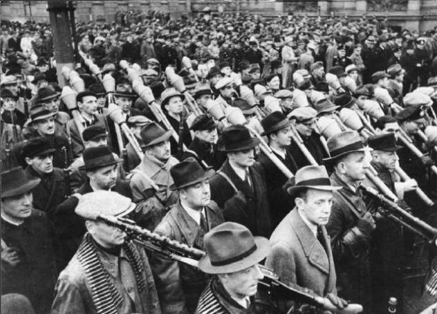 Vorbeimarsch des Volkssturms an Goebbels,Berlin
