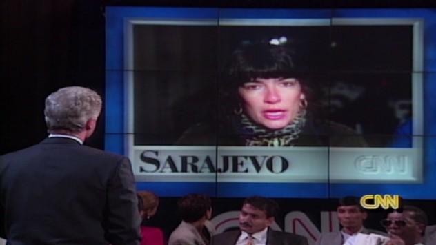Christiane Amanpour-clinton-bosnia-confrontation-