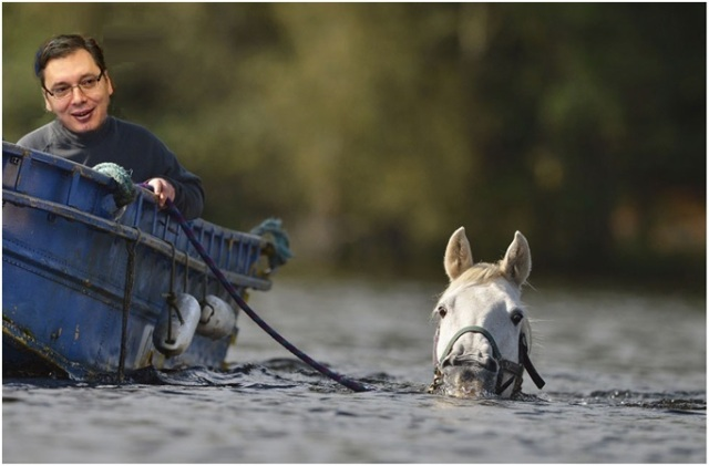 boris tadic na vodi