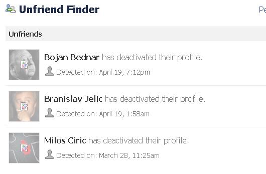 Unfriends list