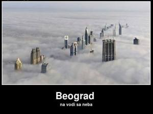 Beograd na vodi, s' neba.