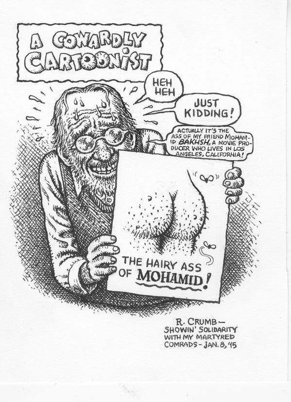 Robert Crumb on Charlie Hebdo Officiel