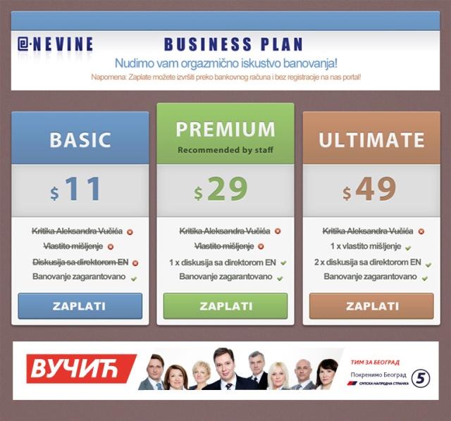 e-novine business