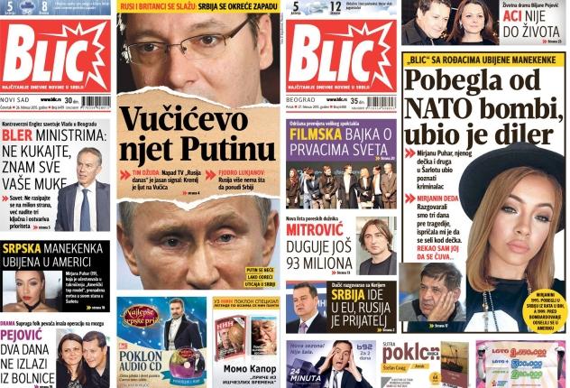 Poskupeo Blic, najtiražnije novine u Srbiji