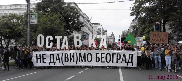 Gradjanski protest, 11. 5. 2016.