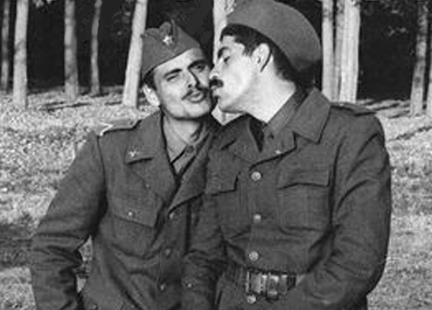m gay 7 soldiers kiss bid