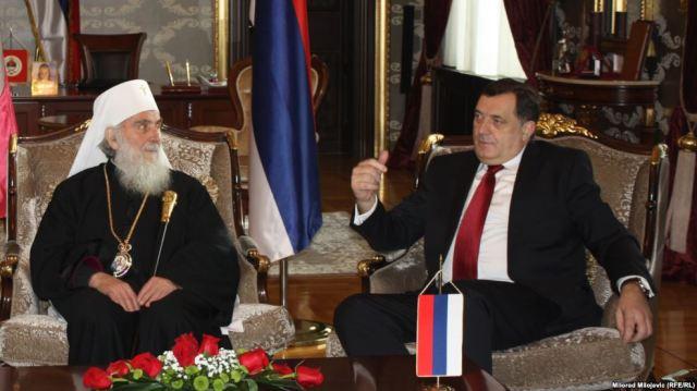Patrijarh srpski Irinej i predsjednik Republike Srpske Milorad Dodik, Banja Luka, januar 2016.